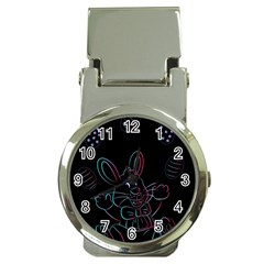 Easter Bunny Hare Rabbit Animal Money Clip Watches