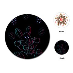 Easter Bunny Hare Rabbit Animal Playing Cards (round)