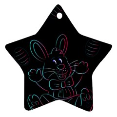 Easter Bunny Hare Rabbit Animal Star Ornament (two Sides)