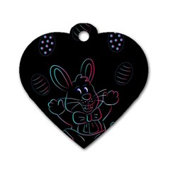 Easter Bunny Hare Rabbit Animal Dog Tag Heart (one Side)