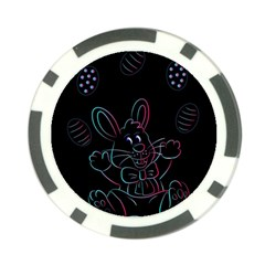 Easter Bunny Hare Rabbit Animal Poker Chip Card Guard