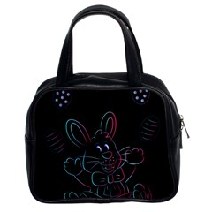 Easter Bunny Hare Rabbit Animal Classic Handbags (2 Sides)