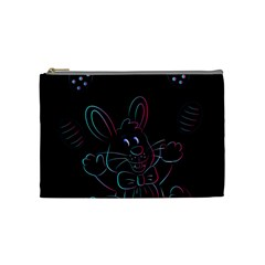 Easter Bunny Hare Rabbit Animal Cosmetic Bag (medium)