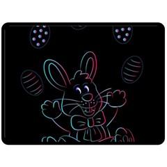 Easter Bunny Hare Rabbit Animal Fleece Blanket (large)