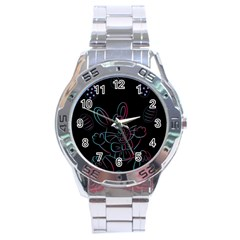 Easter Bunny Hare Rabbit Animal Stainless Steel Analogue Watch