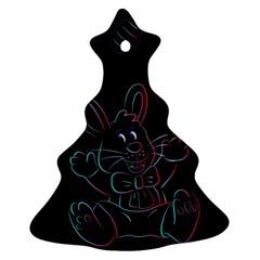 Easter Bunny Hare Rabbit Animal Ornament (christmas Tree)