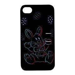 Easter Bunny Hare Rabbit Animal Apple Iphone 4/4s Hardshell Case With Stand