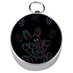Easter Bunny Hare Rabbit Animal Silver Compasses
