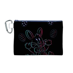 Easter Bunny Hare Rabbit Animal Canvas Cosmetic Bag (m)