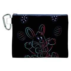 Easter Bunny Hare Rabbit Animal Canvas Cosmetic Bag (xxl)