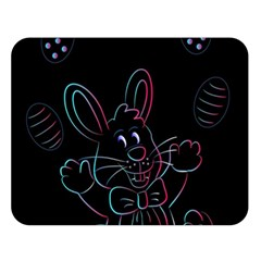 Easter Bunny Hare Rabbit Animal Double Sided Flano Blanket (large)
