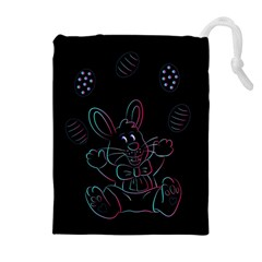 Easter Bunny Hare Rabbit Animal Drawstring Pouches (extra Large)