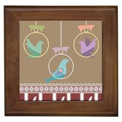 Isolated Wallpaper Bird Sweet Fowl Framed Tiles