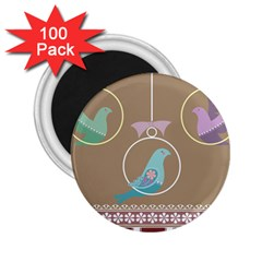 Isolated Wallpaper Bird Sweet Fowl 2 25  Magnets (100 Pack)