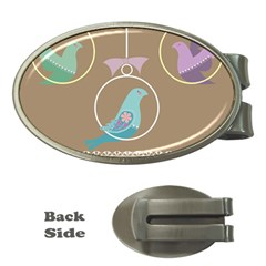 Isolated Wallpaper Bird Sweet Fowl Money Clips (oval)