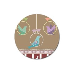 Isolated Wallpaper Bird Sweet Fowl Magnet 3  (round)