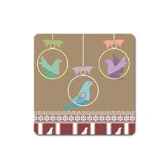 Isolated Wallpaper Bird Sweet Fowl Square Magnet