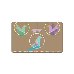 Isolated Wallpaper Bird Sweet Fowl Magnet (name Card)