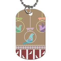 Isolated Wallpaper Bird Sweet Fowl Dog Tag (one Side)