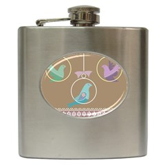 Isolated Wallpaper Bird Sweet Fowl Hip Flask (6 Oz)