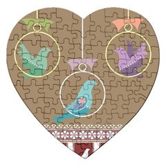Isolated Wallpaper Bird Sweet Fowl Jigsaw Puzzle (heart)