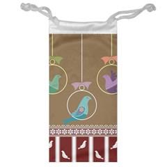 Isolated Wallpaper Bird Sweet Fowl Jewelry Bag