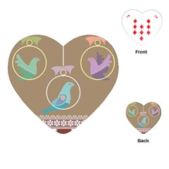 Isolated Wallpaper Bird Sweet Fowl Playing Cards (heart)