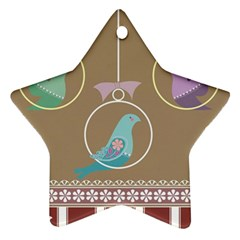 Isolated Wallpaper Bird Sweet Fowl Star Ornament (two Sides)
