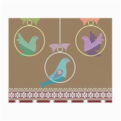 Isolated Wallpaper Bird Sweet Fowl Small Glasses Cloth (2 Side)