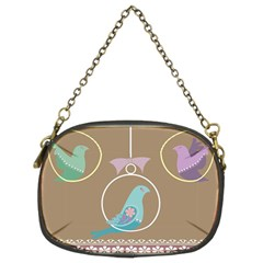Isolated Wallpaper Bird Sweet Fowl Chain Purses (two Sides)