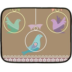Isolated Wallpaper Bird Sweet Fowl Double Sided Fleece Blanket (mini)