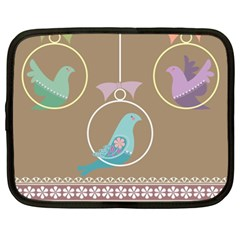 Isolated Wallpaper Bird Sweet Fowl Netbook Case (xxl)
