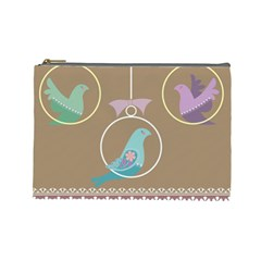 Isolated Wallpaper Bird Sweet Fowl Cosmetic Bag (large)