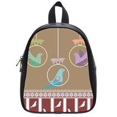 Isolated Wallpaper Bird Sweet Fowl School Bags (small)