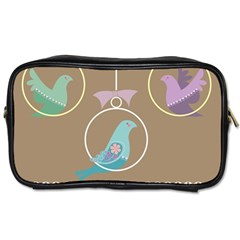 Isolated Wallpaper Bird Sweet Fowl Toiletries Bags 2 Side