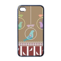 Isolated Wallpaper Bird Sweet Fowl Apple Iphone 4 Case (black)