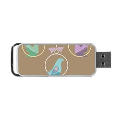 Isolated Wallpaper Bird Sweet Fowl Portable Usb Flash (one Side)