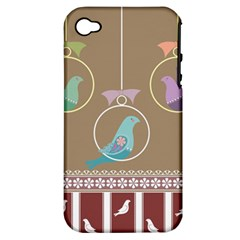 Isolated Wallpaper Bird Sweet Fowl Apple Iphone 4/4s Hardshell Case (pc+silicone)