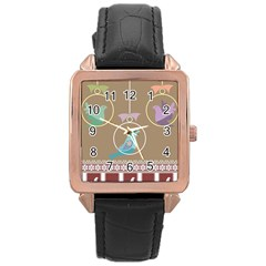 Isolated Wallpaper Bird Sweet Fowl Rose Gold Leather Watch