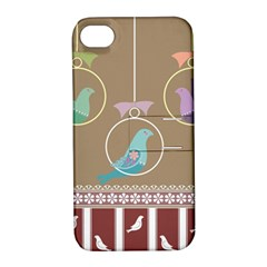 Isolated Wallpaper Bird Sweet Fowl Apple Iphone 4/4s Hardshell Case With Stand