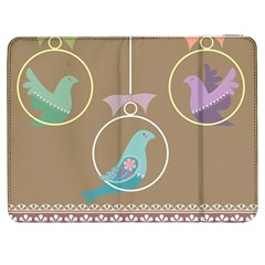 Isolated Wallpaper Bird Sweet Fowl Samsung Galaxy Tab 7  P1000 Flip Case