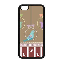 Isolated Wallpaper Bird Sweet Fowl Apple Iphone 5c Seamless Case (black)