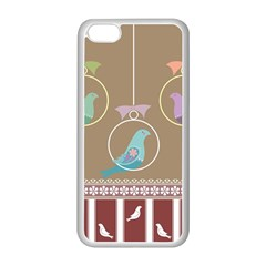 Isolated Wallpaper Bird Sweet Fowl Apple Iphone 5c Seamless Case (white)