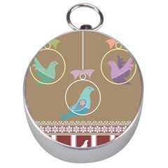 Isolated Wallpaper Bird Sweet Fowl Silver Compasses