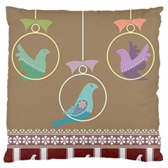 Isolated Wallpaper Bird Sweet Fowl Standard Flano Cushion Case (one Side)