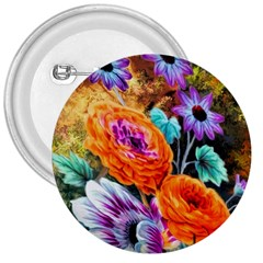 Flowers Artwork Art Digital Art 3  Buttons
