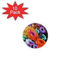 Flowers Artwork Art Digital Art 1  Mini Buttons (10 Pack)