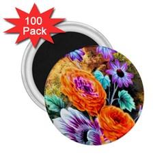 Flowers Artwork Art Digital Art 2 25  Magnets (100 Pack)