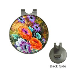 Flowers Artwork Art Digital Art Hat Clips With Golf Markers