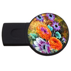 Flowers Artwork Art Digital Art Usb Flash Drive Round (4 Gb)